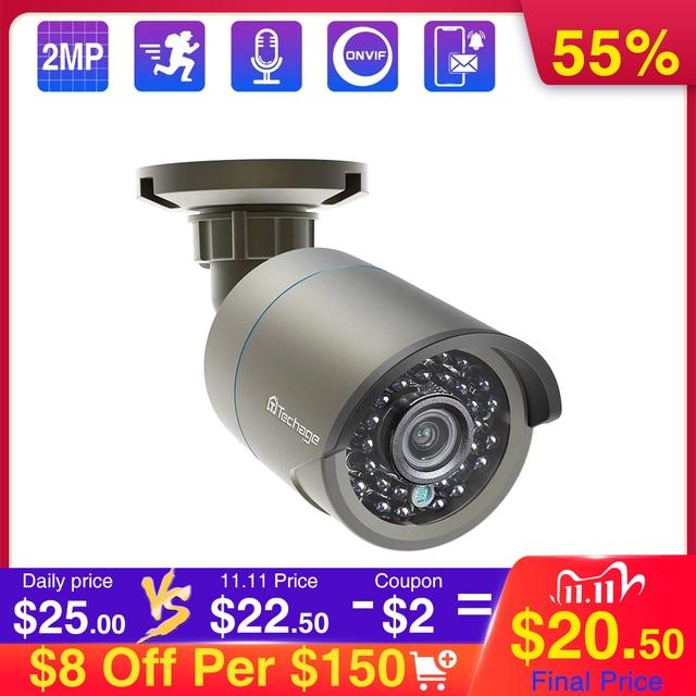 Techage 1080P 48V POE IP Camera Onvif Security CCTV Surveillance Camera 2MP Outdoor IR Night Vision HD Camera for POE System P2P