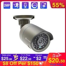 Techage cámara de seguridad Onvif 1080P 48V, POE, IP, visión nocturna IR al aire libre, 2MP, HD, para sistema POE P2P