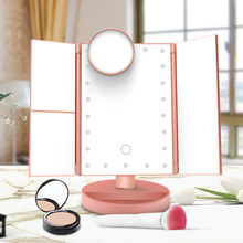 22 LEDS Light Makeup Mirror Touch Screen LED Mirror Luxury Mirror 1X/2X/3X/10X Magnifying Mirrors 180 Degree Adjustable Table