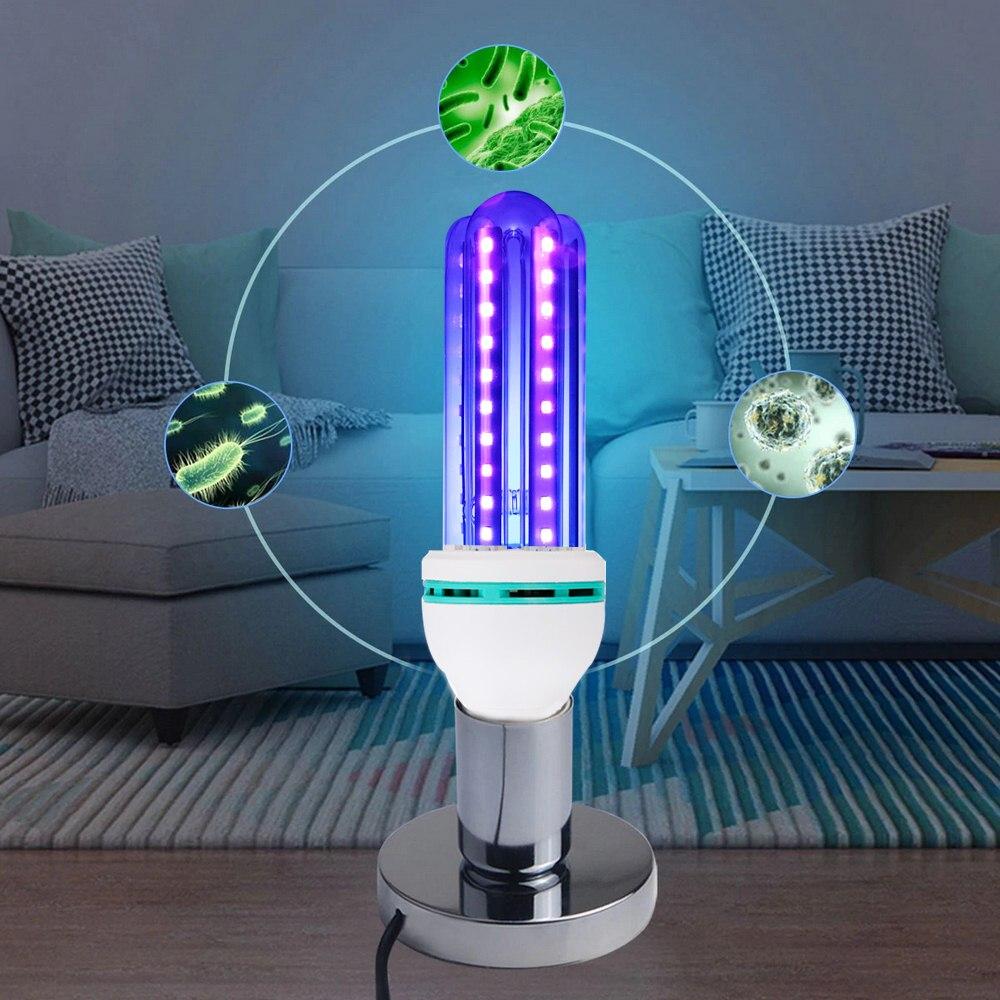 UV Disinfection Lamp Quartz For Bactericidal Ultraviolet Light UVC Germicidal Sterilization CFL Kill Mites Deodorizer Ozone Lamp