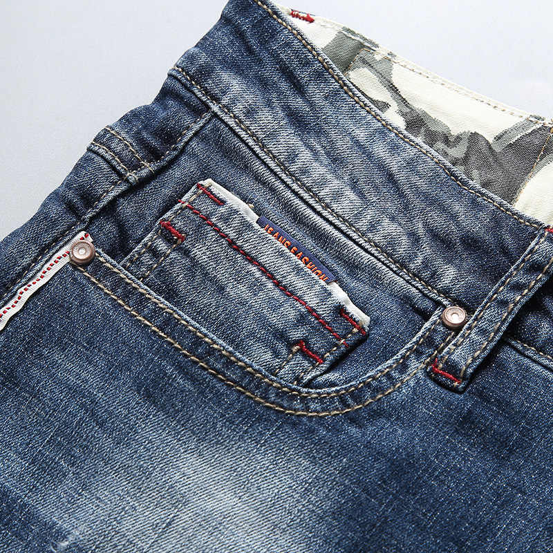 Männliche Beiläufige Dünne Denim Shorts Fashion skate bord Harun jogger Denim Shorts 38 40 Sommer Männer der Marke Stretch Kurze jeans