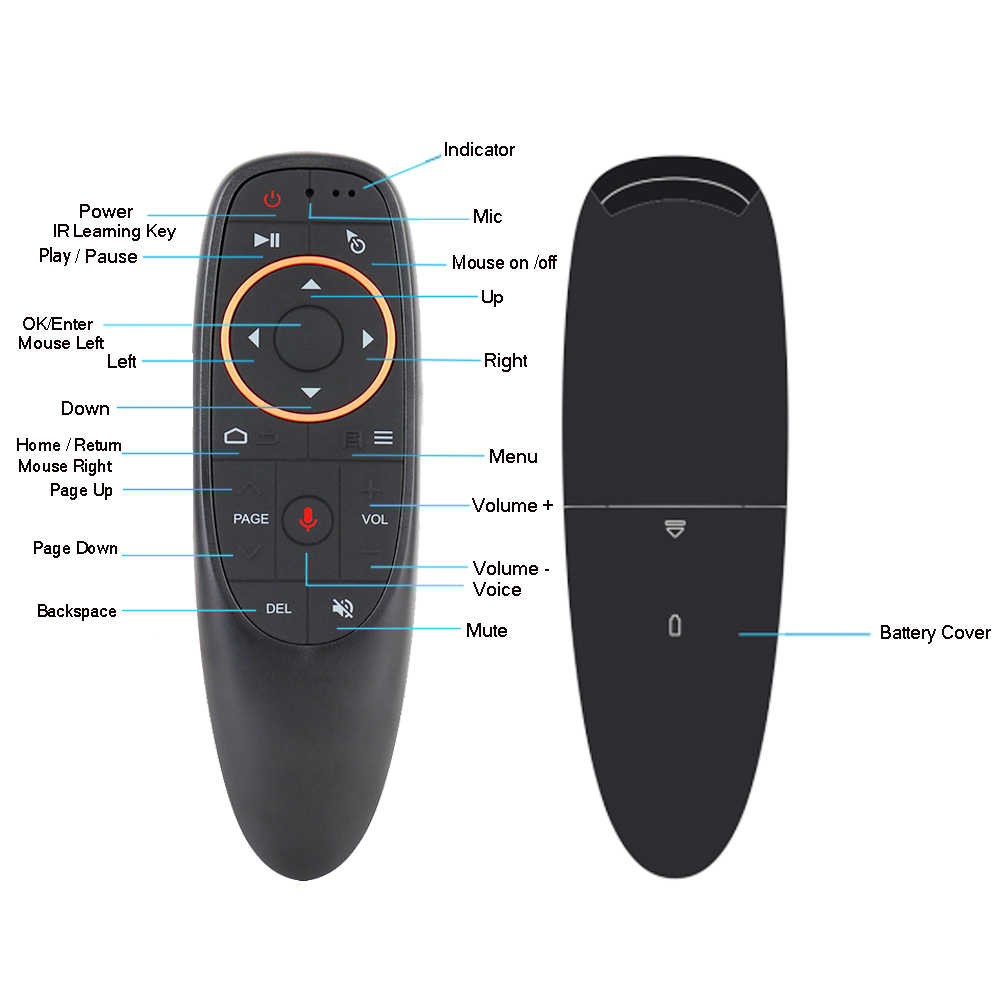 G10 G10S G10S Pro Suara Remote Control Bluetooth Udara Remote Mouse 2.4G Wireless Giroskop untuk Android Tv Box H96 max X3