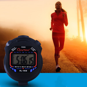 Image 2 - Classic Digital Professional Handheld LCD Chronograph Sports Stopwatch Timer Stop Watch With String 2020 New Sale