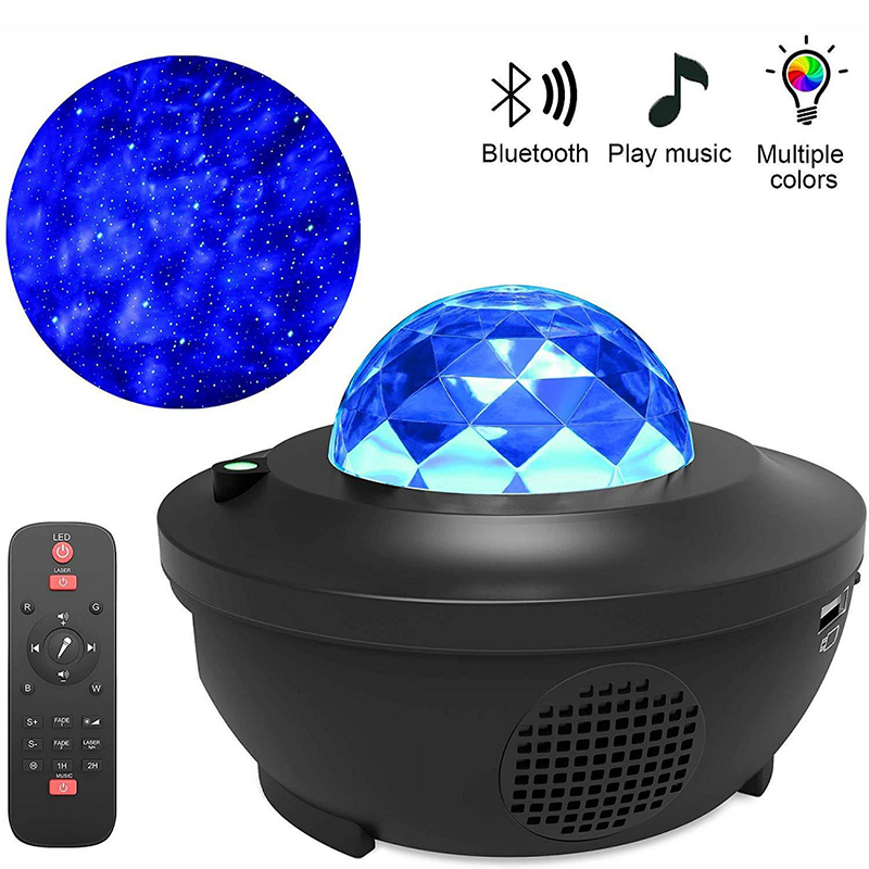 Dream Star Projector Audio Bluetooth Music Light Creative Gift Home LED Starlight Sleep Water Wave Remote Control Laser Light