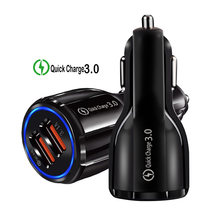 Qc 3.0 2 3Port Usb Car Charger 5V 3.1A Fast Charger Qualcomm Quick Charge 3.0 Standaard Opladen Voor iphone Samsung Huawei Xiaomi(China)