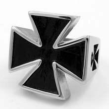 Новое религиозное христианское кольцо с крестиком мужское Тамплиер