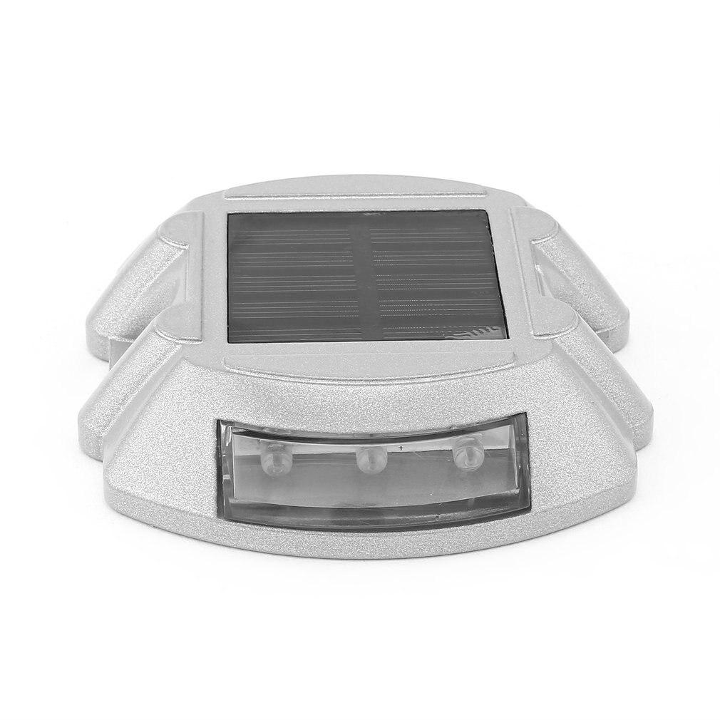 Outdoor Aluminum Alloy Spike Traffic Signal Light Villa Landscape Drive Lamp Waterproof Road 6 LED Solar Spike Light