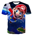 3D printed summer boy/girl sonic hedgehogs and super Mario cartoon t-shirts for kids short-sleeved t-shirts for kids casual wear