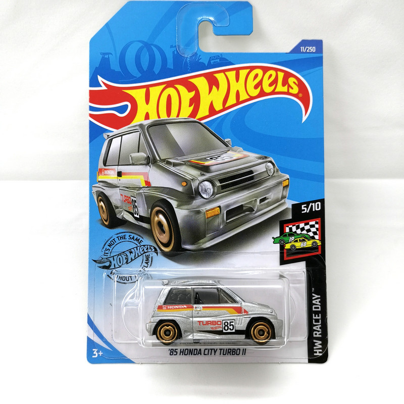2020-11 Hot Wheels 1:64 Car 85 HONDA CITY TURBO Metal Diecast Model Car Kids Toys Gift