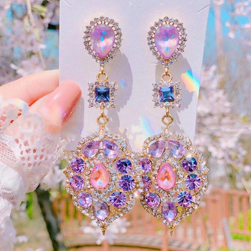 Женские винтажные серьги подвески mengjiqiao новые элегантные
