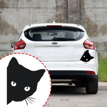 Cat Face Peering Car Sticker Decals Pet Cat Motorcycle Car For Audi Decorative Window Car 14*11CM Stickers Decals Sticker F3H5