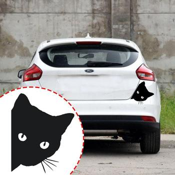 Cat Face Peering Car Sticker Decals Pet Cat Motorcycle Car For Audi Decorative Window Car 14*11CM Stickers Decals Sticker F3H5 image