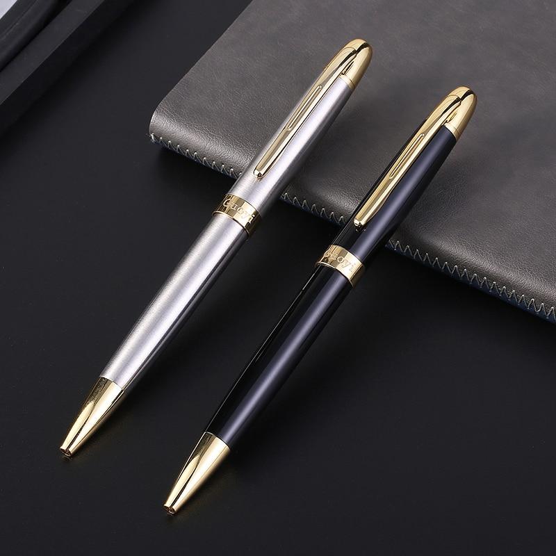 CCCAGYA Q318 klassieke metalen balpen Leer kantoor school Gift luxe - Pennen, potloden en schrijfbenodigdheden