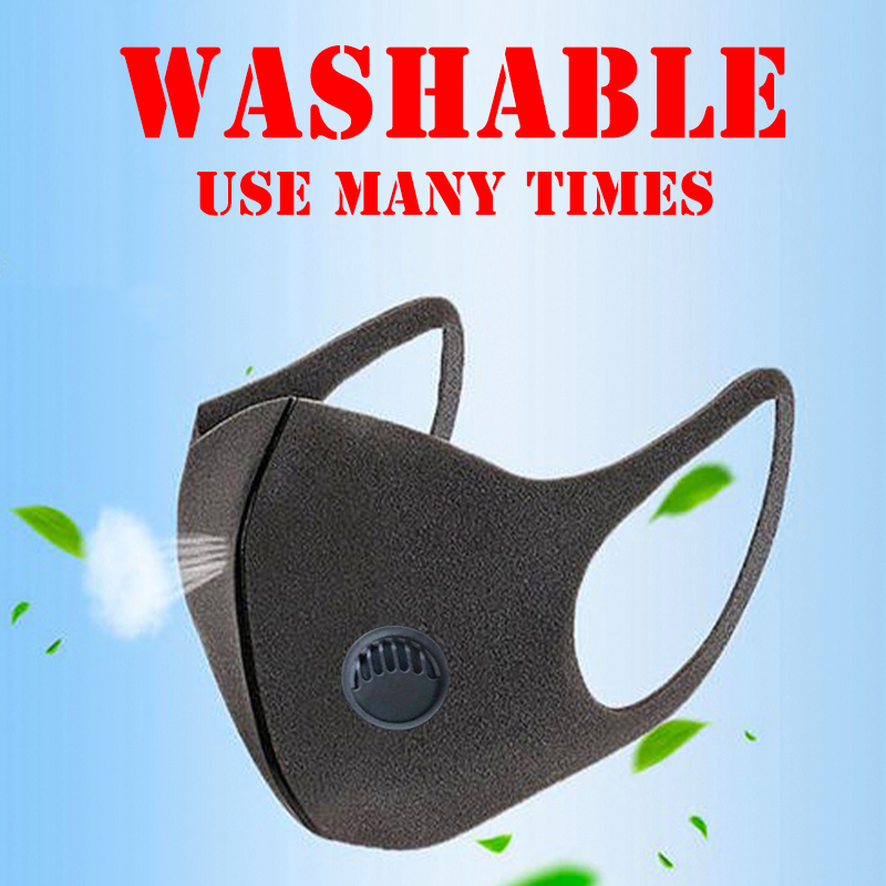 Protection Masks Air Purifying Mask Mouth Muffle Carbon Corona Filter Dust Haze Fog Respirator Mask With Valve