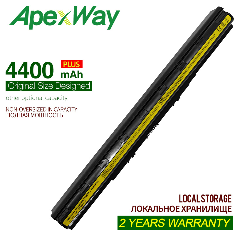 ApexWay 4400mAh 8C L12m4e01 Battery For Lenovo G505s Z50-70 G50-45 G500s Ideapad Z710 L12L4A02 L12M4A02 L12M4E01L12S4A02