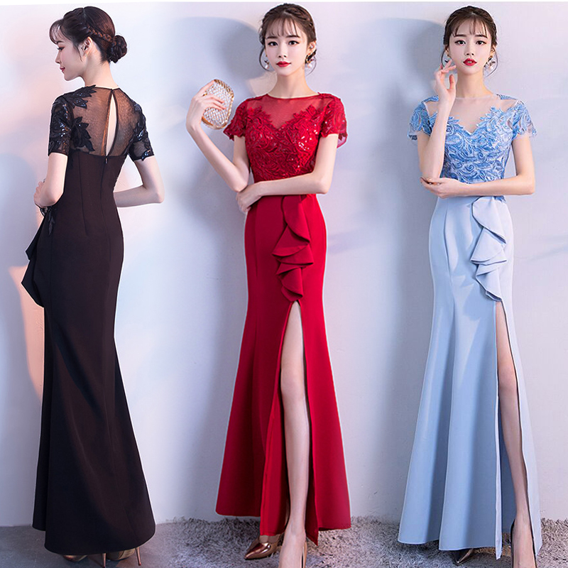 Burgundy Bridesmaid Dresses Red Vestido Azul Marino Maid Of Honor Dresses For Weddings Sexy Dress Prom Long Floor Length Black