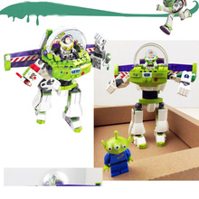 243pcs Super Heroes Story 3 Construct A Buzz Lightyear Mech Robots SY941 Figure Building Blocks Toys For Children