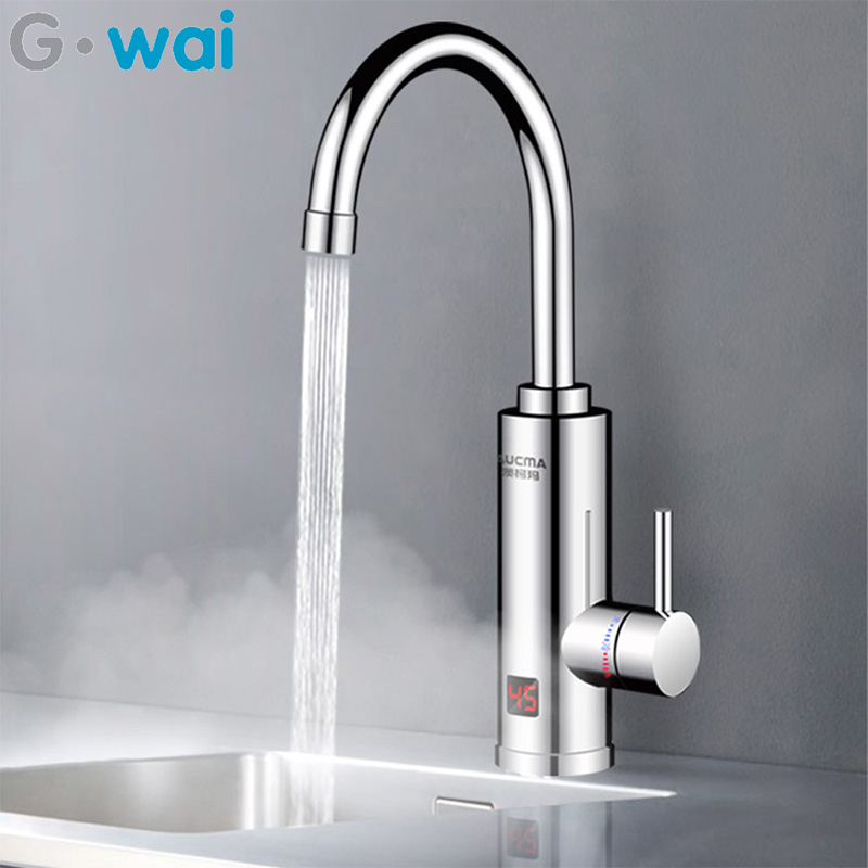 220V 3000W Instant Electric Faucet Tankless 3 Seconds Speed Heat 360° Adjustment Direction Water Heater Hot And Cold For Kitchen
