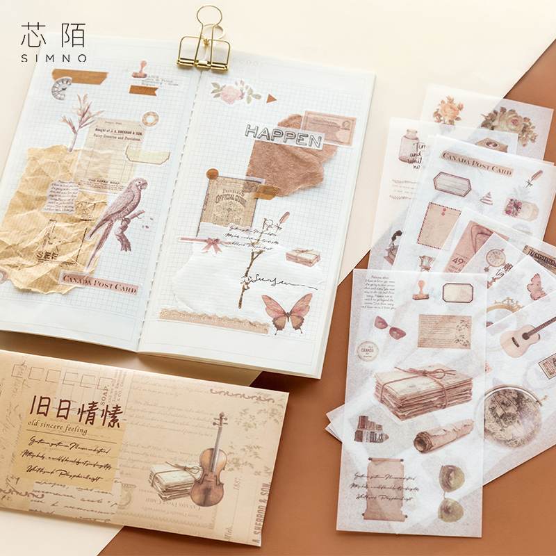 10sheets/1pack Kawaii Stationery Stickers Yang Mu series Diary Decorative Mobile Stickers Scrapbooking DIY Craft Stickers