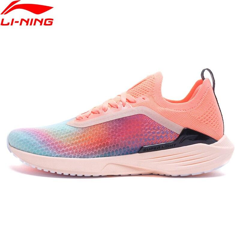 Li-Ning Women SUPER LIGHT XVII Running Shoes Mono Yarn Breathable LiNing Sport Shoes LIGHT FOAM li ning Sneakers ARBQ002