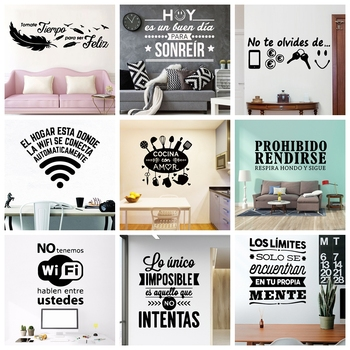 2020 New Sticker Spanish Phrase Wall Art Stickers For Office Room Wall Decal Vinyl Wallpaper Poster Mural large spanish quotes phrase wall decals wallpaper vinyl stickers for office room decal wall sticker home decoration poster mural