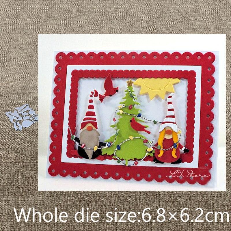 Nuevo diseño de artesanía de corte de Metal troquelado decoración de Gnomo de Navidad álbum de recortes de papel tarjeta artesanal grabado troquelado|Troqueles|   - AliExpress
