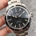 Marca de luxo Dos Homens Novos Mecânico Automático Prata James Bond 007 Luminosos do Relógio Preto de Cerâmica de Cristal de Safira Verde Limitada AAA +