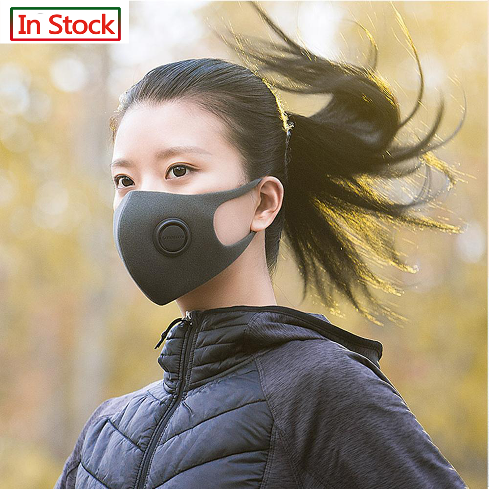 Spot SmartMi Fast Delivery Hot Sale KN95 Pm2.5 Dustproof Anti-fog And Breathable Face Pm2.5 Mask Respirator Washable Reusable