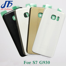 50 pcs Back Glass Cover replacement For Samsung GALAXY S7 G930 / S7 Edge G935 Rear Housing Battery Door Case Rear Adhesive parts