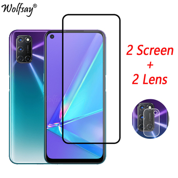 Full Cover Whole Glue Tempered Glass For Oppo A72 A52 A92 Screen Protector For Oppo A72 Camera Glass For Oppo A72 Glass 6.5 inch tempered glass for oppo a3 a3s a5 a71 a83 explosion proof screen protector for oppo f9 r17 glass