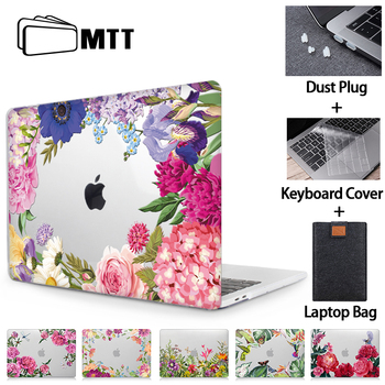 MTT Flower Laptop Case For Macbook Air 13 inch Crystal Cover for macbook air pro retina 11 12 13 15 16 Touch Bar Laptop Sleeve цена 2017