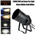 Gigertop TP-P85 200 Вт Led COB Zoom Par Cans 3200k теплый белый холодный белый DMX512/Звук/автоматическое управление DJ огни для вечерние Клубные