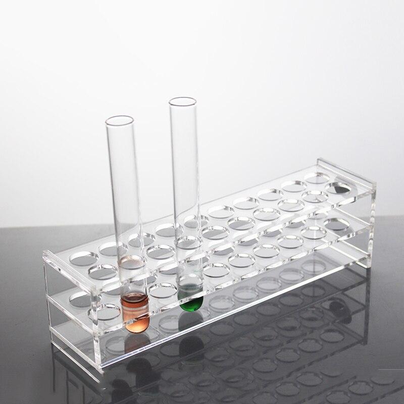 1 pièces support pour Tube à essai 24 trous plexiglas acrylique pour Tube 15mm