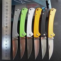 Sanrenmu 7112 faca dobrável faca de frutas para acampamento ao ar livre viagem e sobrevivência