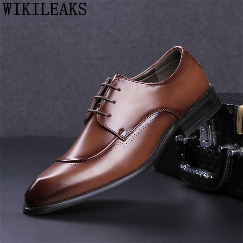 Mens Formal Shoes Genuine Leather Black