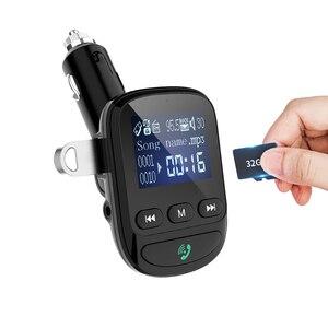 Image 1 - YIBEIKA Aux بلوتوث FM الارسال يدوي للسيارة سيارة عدة MP3 مشغل الصوت مع تهمة سريعة