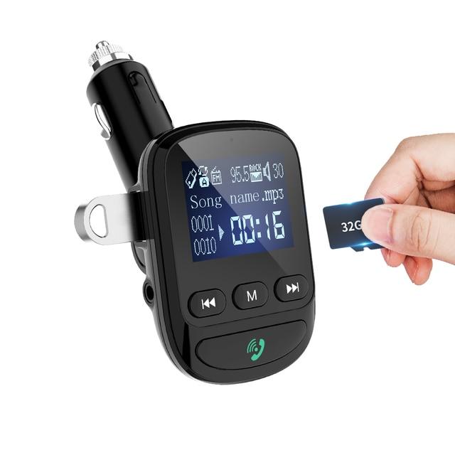 YIBEIKA Aux بلوتوث FM الارسال يدوي للسيارة سيارة عدة MP3 مشغل الصوت مع تهمة سريعة
