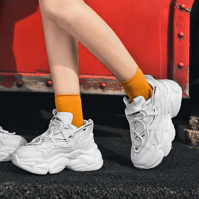 Мужские кроссовки на платформе; Кроссовки; Женская белая спортивная обувь кроссовки с вулканизированной подошвой массивные кроссовки с пл...