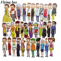 34 Flyingbee 34 pcs Rick and morty Skateboard graffiti waterproof sticker Scrapbooking Sticker for Phone Luggage Decals X0710 (2)