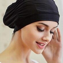 Новая женская шапка для плавания, шапка для купания с длинными волосами для девушек, эластичная шапка s, эластичный нейлоновый тюрбан для ба...