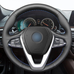 Image 2 - Hand stitched Black PU Faux Leather Car Steering Wheel Cover for BMW G20 G21 G30 G31 G32 X3 G01 X4 G02 X5 G05 X7 G07 Z4 G29