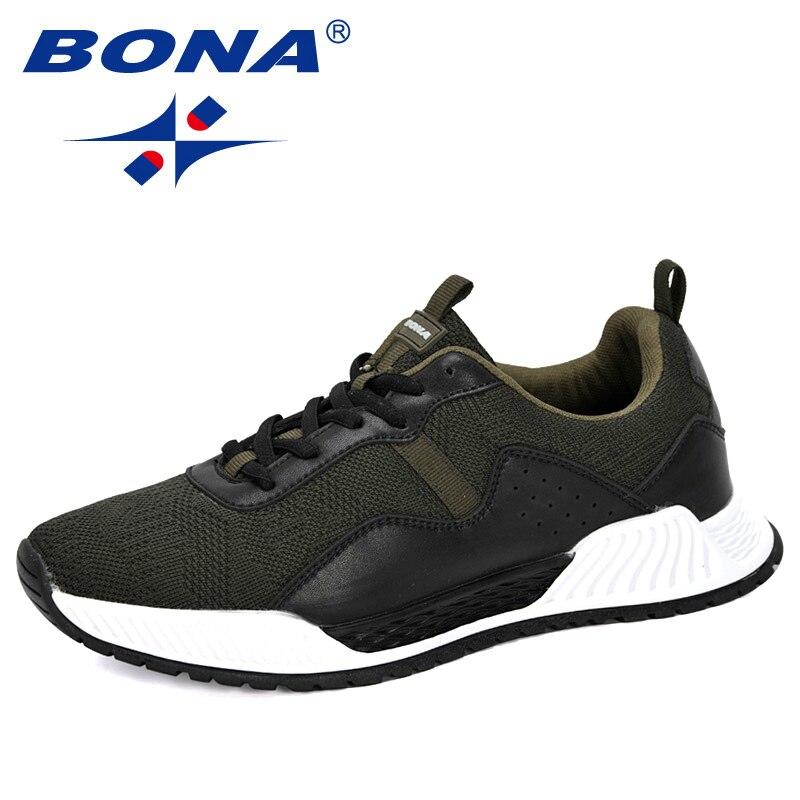 BONA 2020 Light Fashion Sneakers 2020 New Desginers Outdoor Casual Flat Shoes Men Mesh Sneakers Man Tenis Masculino Footwear