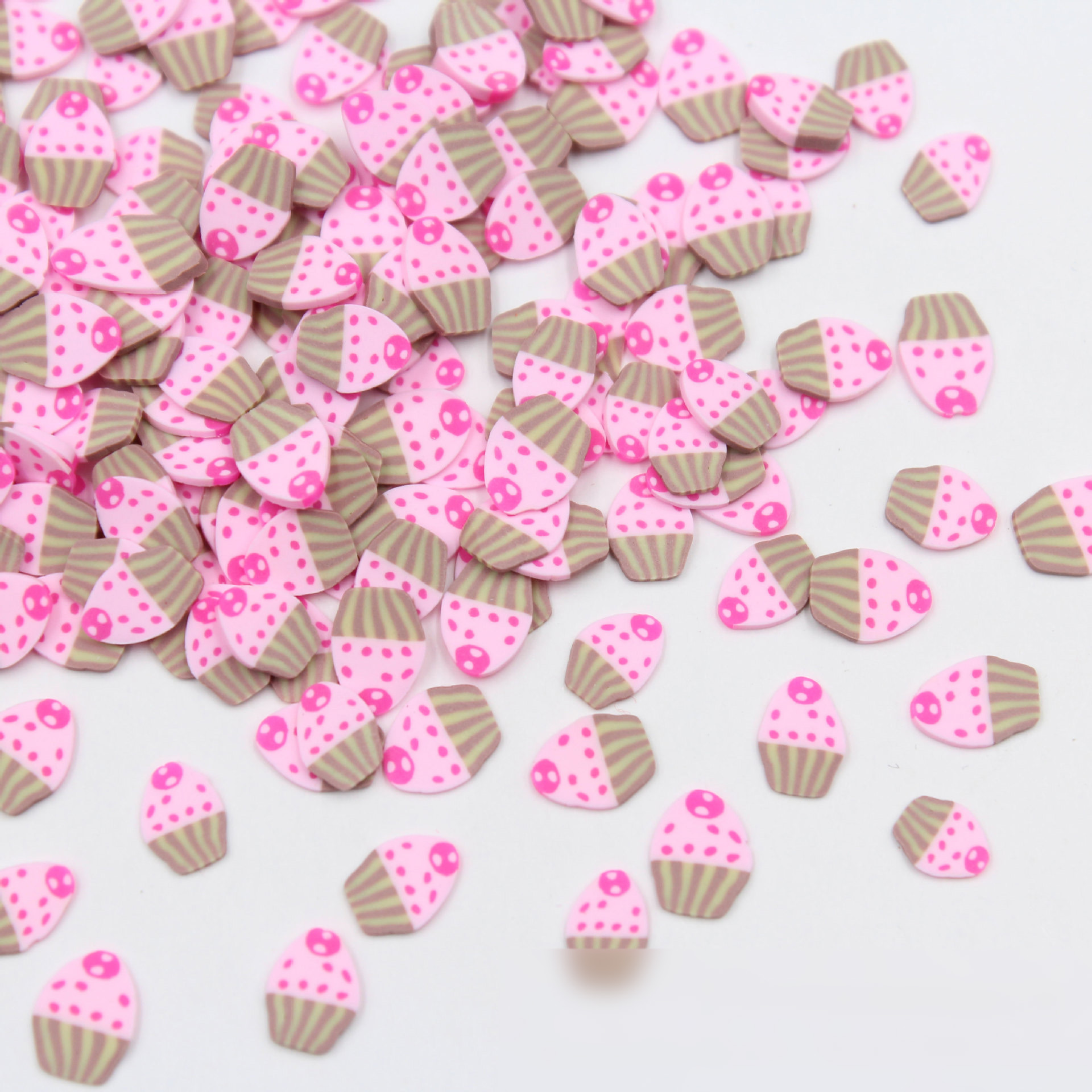 100g/lot Polymer Soft Clay Cake Slices Sprinkles For Craft DIY Making Nail Art Decorations Scrapbooking Phone Case Accessories