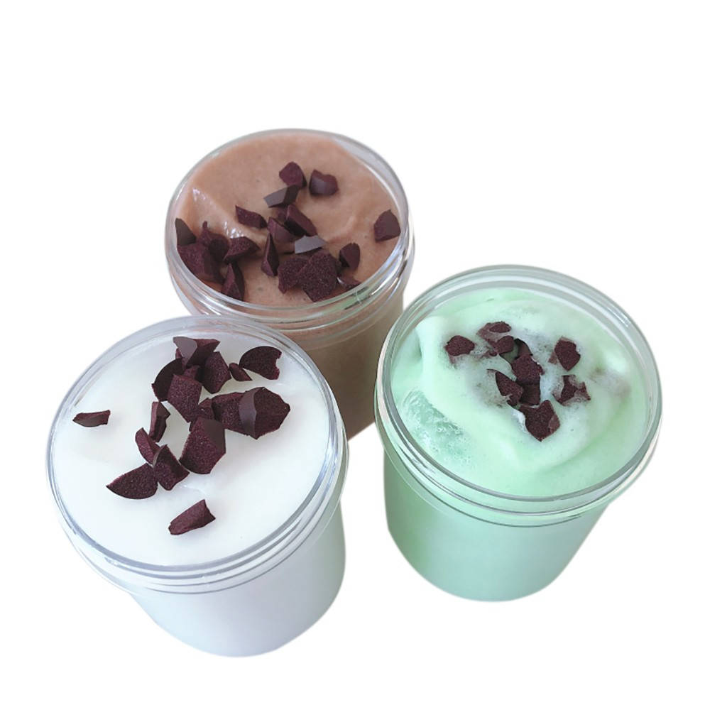 Mixing DIY Cotton Mud Chocolate Ice Cream Crystal Slime Toys Gift Plasticine Gum Polymer Clay Antistress #B