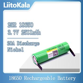 LiitoKala 18650 2500mAh akumulator akumulator INR18650 25R M 20A rozładowanie akumulator litowo-jonowy 15A bateria ogniwowa + DIY nikiel tanie i dobre opinie 25R-N Li-ion Rohs CN (pochodzenie) Tylko baterie Pakiet 1 1-20