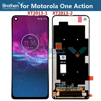 Original For Motorola One Action LCD Display Touch Screen Digitizer for XT2013-1 XT2013-2 Screen Assembly Replacement Parts 6.3
