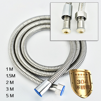 5m 304 wąż prysznicowy ze stali nierdzewnej wysokiej jakości wąż kranowy elastyczny wąż prysznicowy gruby silikonowy łazienka 3 metrowy wąż prysznicowy tanie i dobre opinie CN (pochodzenie) STAINLESS STEEL GJ-20201