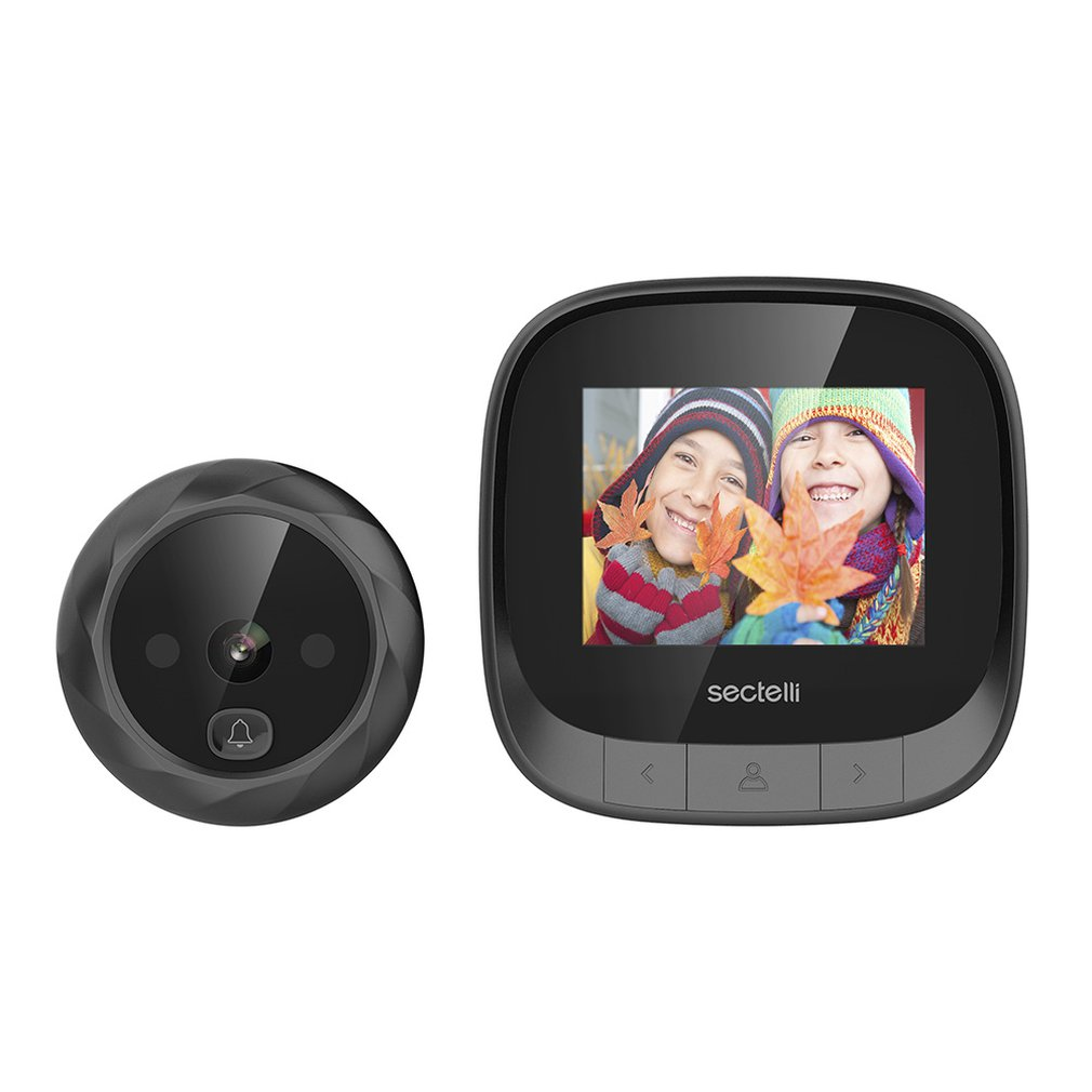 DD3 HD Scrren Smart Peephole Viewer Visual Doorbell IR Night Vision 160 Degree Viewing Home Security Doorbell