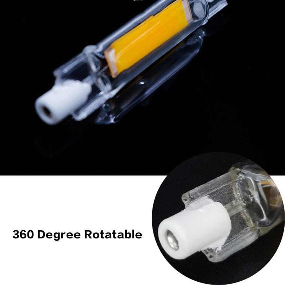 R7S led電球cobガラス管78ミリメートル20ワット118ミリメートル30ワット交換ハロゲンランプ80ワットJ78 j118 lampardaダイオードスポットライトac 220v 230v 110v