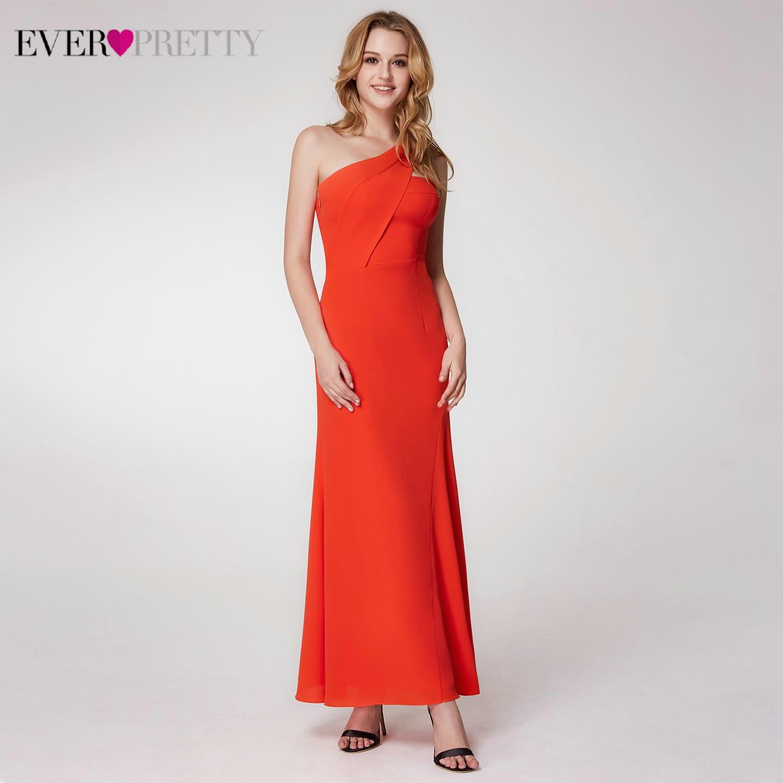 Пикантные Вечерние платья Длинные Ever Pretty EP07247OR А-силуэт v-образный вырез безрукавный с Боковым Разрезом Простые Вечерние платья Lange Jurk - Цвет: EP07246OR